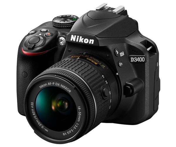 دوربین نیکون D3400 + AF-P 18-55mm VR (دست دوم)