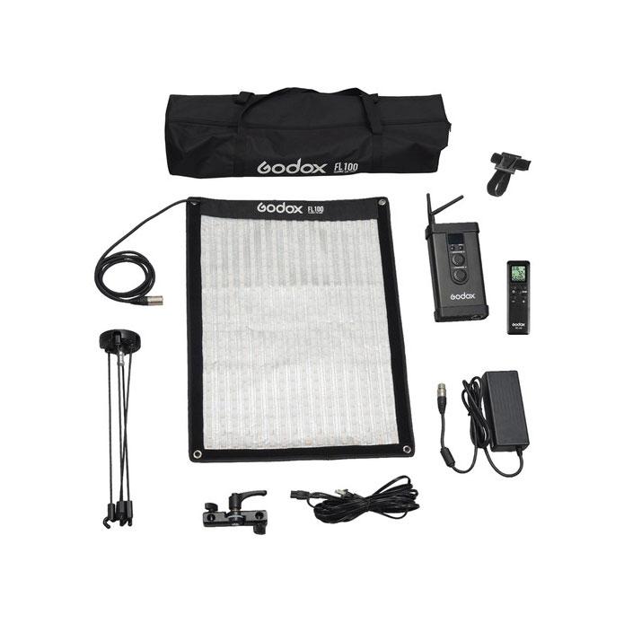 نور LED منعطف مدل Godox FL100 سایز 40x60