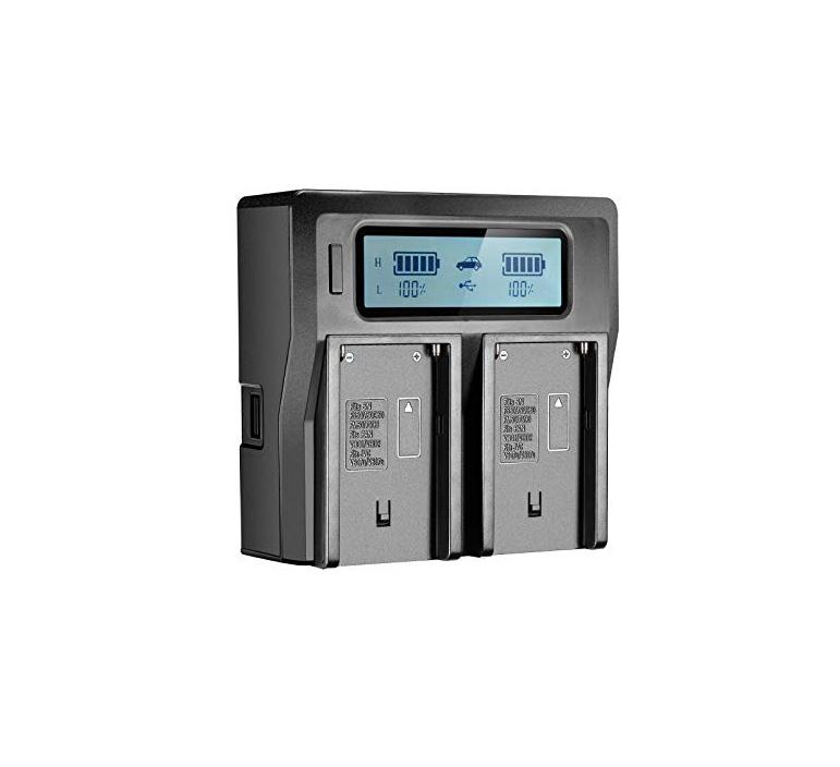 شارژر دوتایی برای باتریهای سونی NP-F970/770