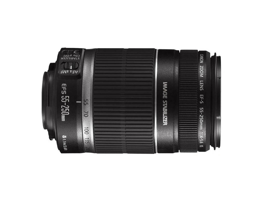 لنز Canon EF-S 55-250mm f/4-5.6 IS (دست دوم)