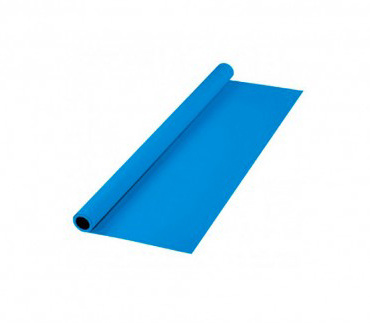 پرده آبی روشن سایز 2x3 لوله پلاستیکی (فون مخمل)