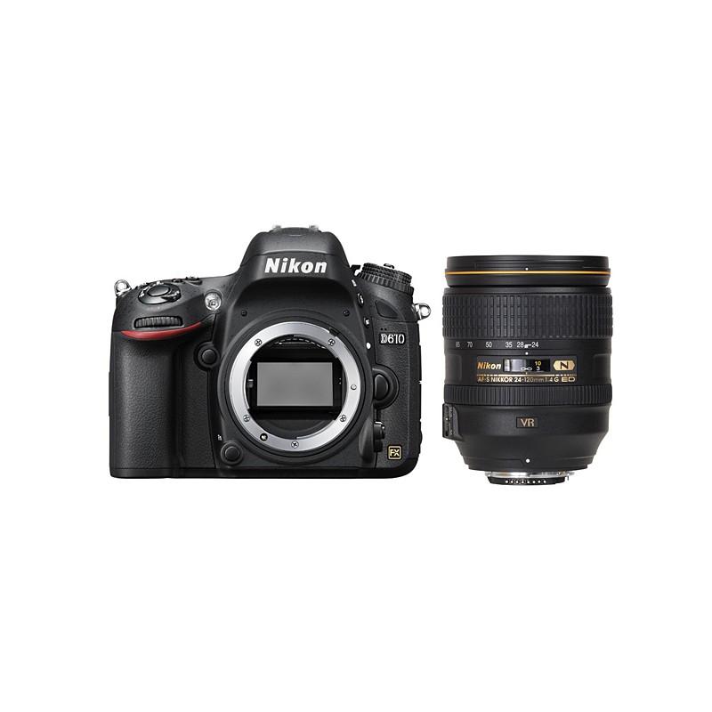دوربین نیکون D610 به همراه لنز Nikon AF-S 24-120mm f/4 G ED VR (دست دوم)
