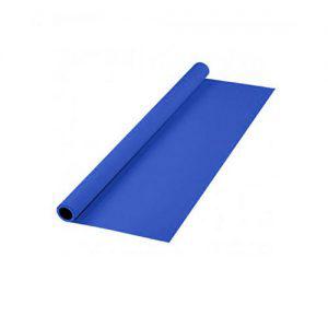 پرده آبی سایز 2x3 لوله پلاستیکی (فون مخمل)