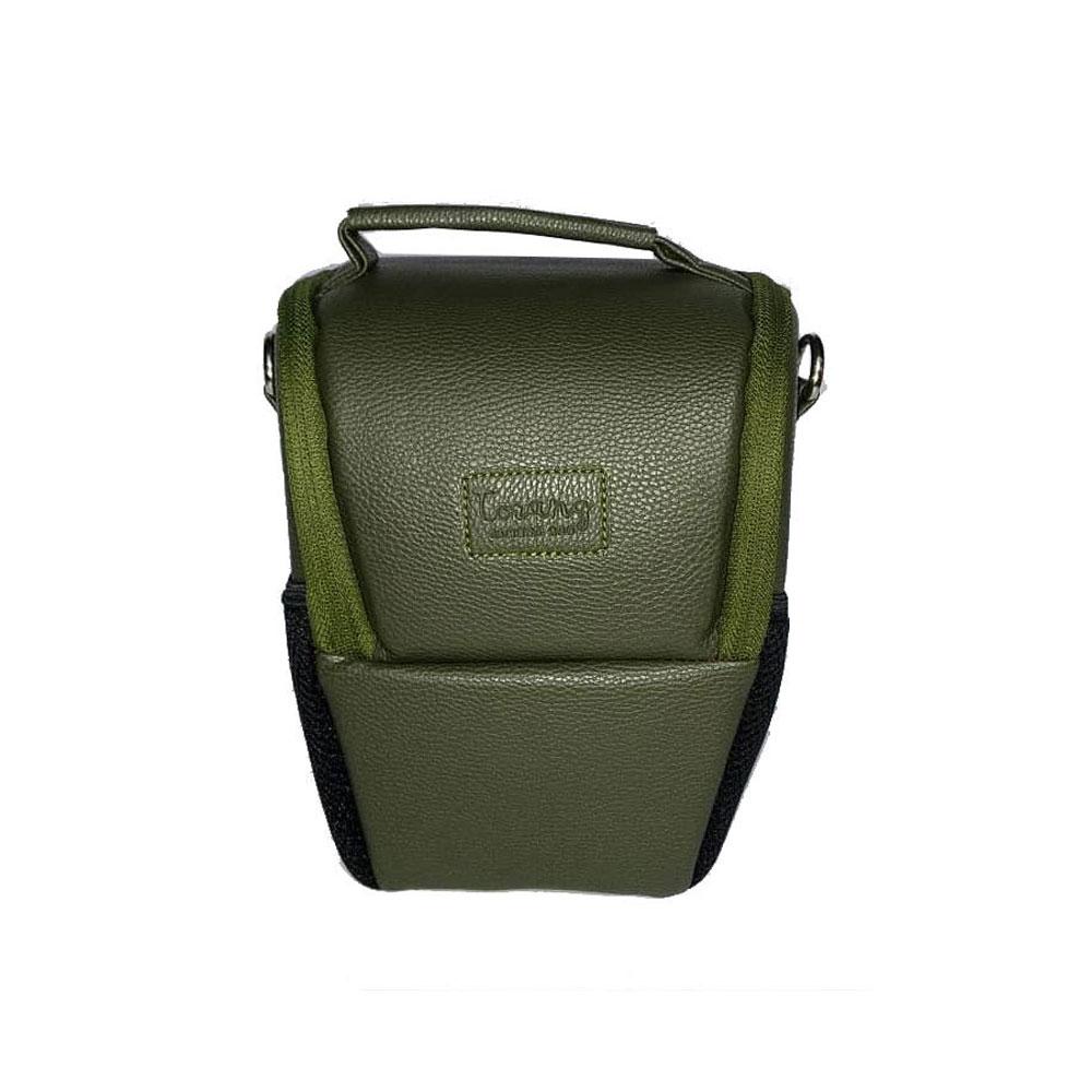 کیف دوربین عکاسی پوزه ای ترنگ سایز L سبز یشمی