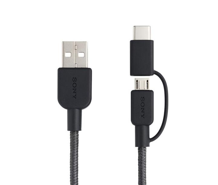 کابل تبدیل USB به USB-C / microUSB سونی مدل CP-ABC150 طول 1.5متر