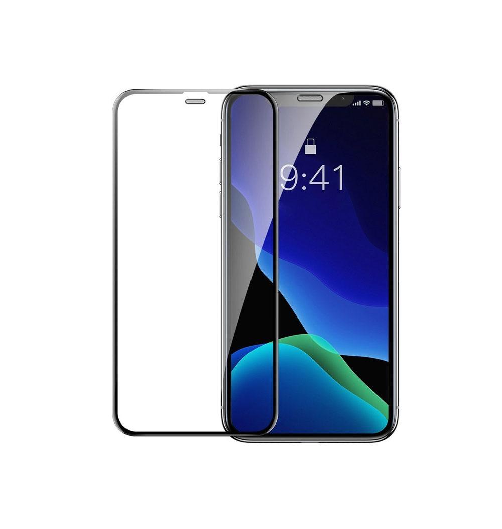 محافظ صفحه نمایش باسئوس مدل SGAPIPH61-WD01 مناسب برای گوشی موبایل اپل iPhone XR (بسته دو عددی)