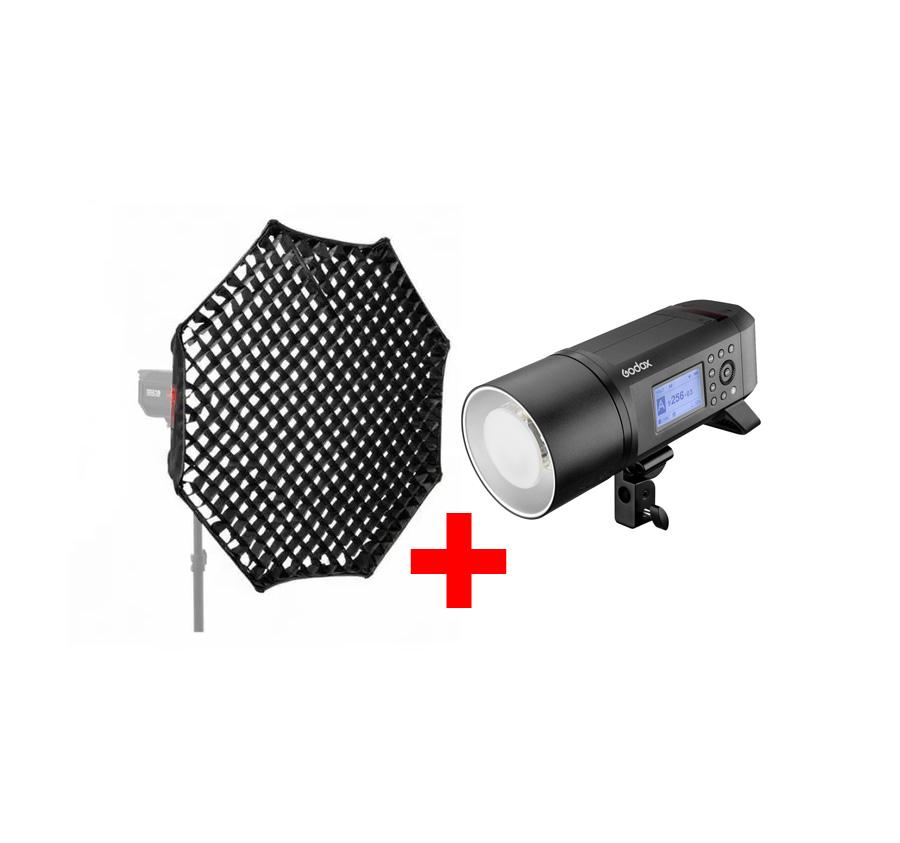 فلاش پرتابل گودوکس Godox AD600Pro به همراه اکتاباکس پرتابل 120cm گودوکس