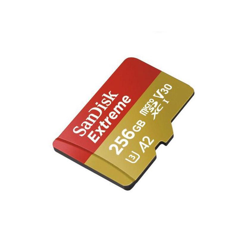 کارت حافظه microSDXC سن دیسک مدل Extreme کلاس A2 استاندارد UHS-I U3 سرعت 160MBps ظرفیت 256 گیگابایت