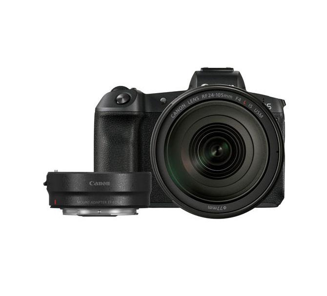 دوربین بدون آینه کانن EOS R به همراه لنز RF 24-105mm و آداپتور EF