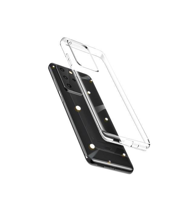 قاب ژله ای شفاف مدل باسئوس ARSAS20-02 برای گوشی سامسونگ Galaxy S20