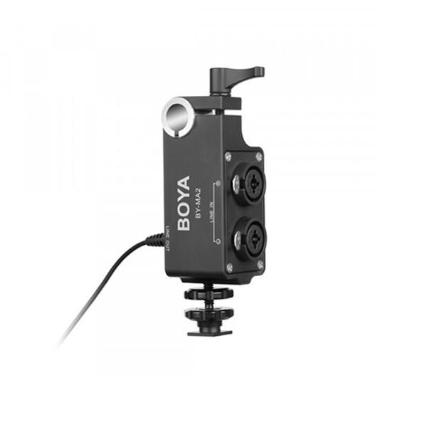 آداپتور فیش میکروفن XLR به 3.5mm مدل BOYA BY-MA2