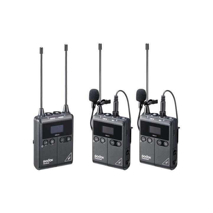 میکروفن بی سیم گودکس Godox WMicS1 Kit 2 (دو میکروفن)