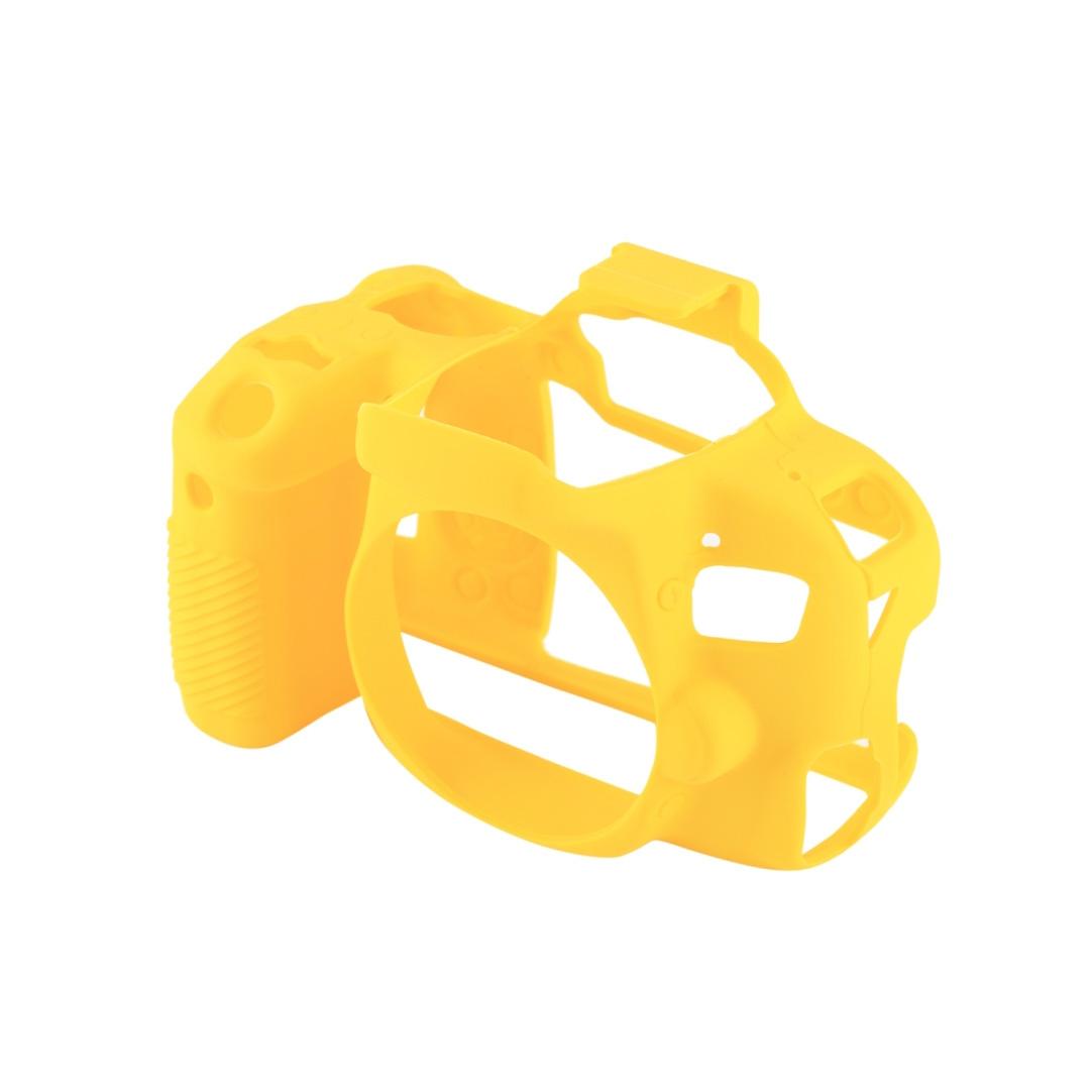 کاور سیلیکونی دوربین کانن EOS 80D (زرد)