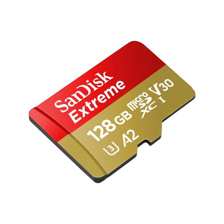 کارت حافظه microSDXC سن دیسک مدل Extreme کلاس A2 استاندارد UHS-I U3 سرعت 160MBps ظرفیت 128 گیگابایت