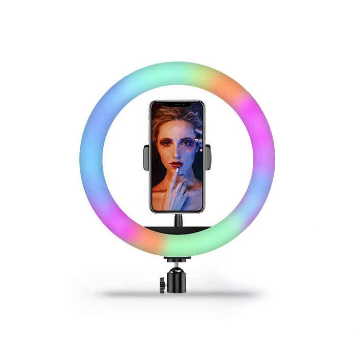 رينگ لايت RGB مدل MJ26 (سایز 10 اینچ)