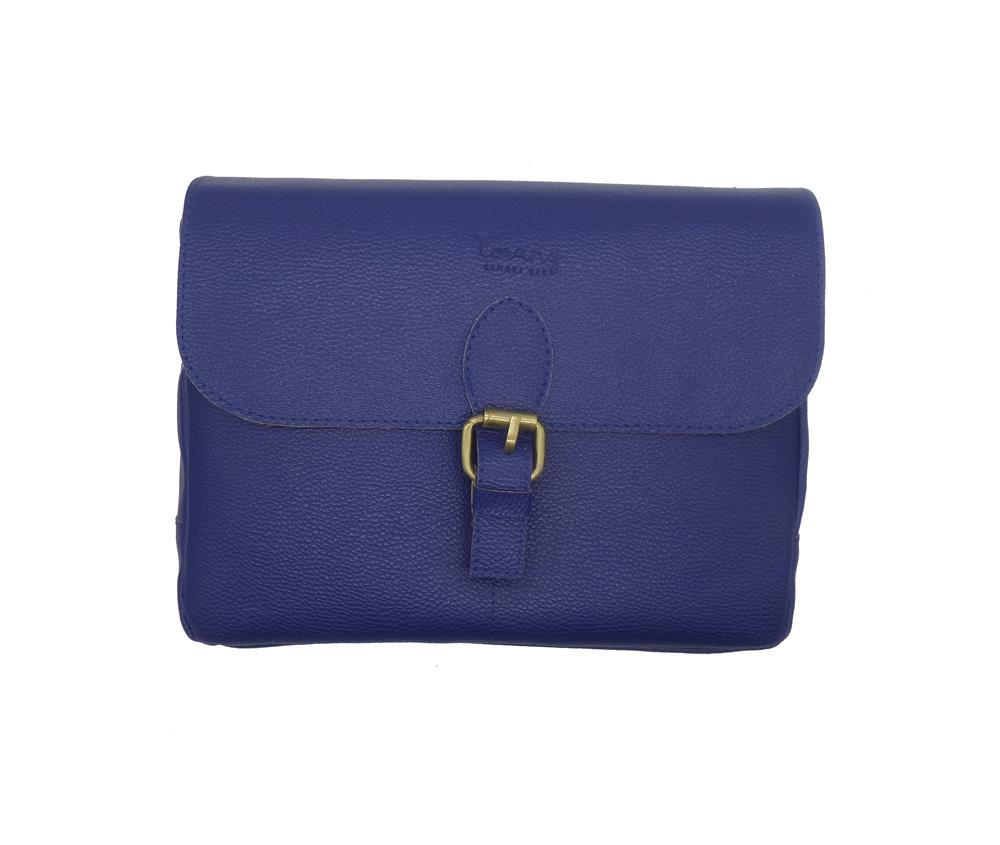 کیف چرمی دوربین عکاسی ترنگ رنگ آبی تیره