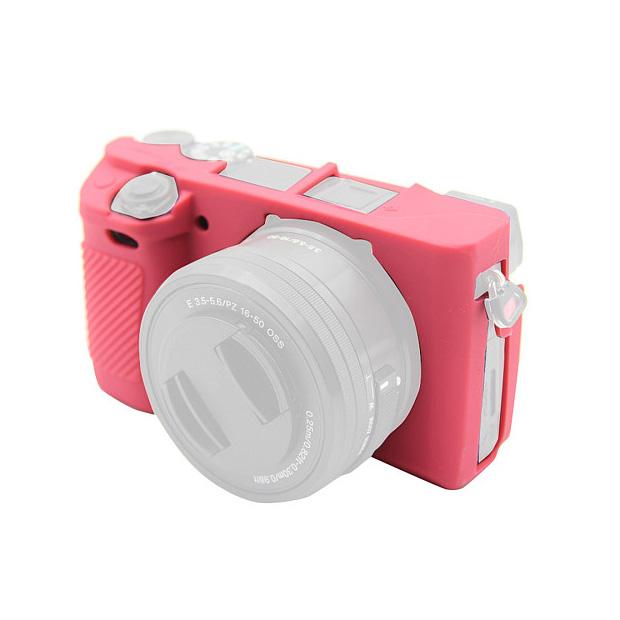 کاور سیلیکونی برای دوربین سونی a6100 (صورتی)