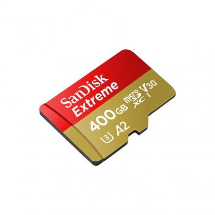 کارت حافظه microSDXC سن دیسک مدل Extreme کلاس A2 استاندارد UHS-I U3 سرعت 160MBps ظرفیت 400 گیگابایت