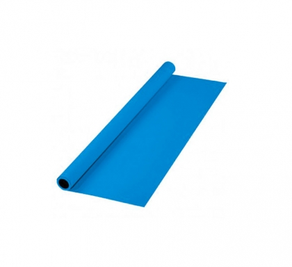 پرده آبی 3x5 لوله پلاستیکی (فون مخمل)