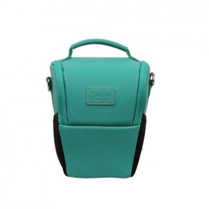 کیف دوربین عکاسی پوزه ای ترنگ سایز S سبز آبی