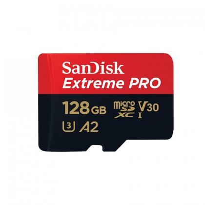 کارت حافظه microSDXC سن دیسک مدل Extreme PRO کلاس A2 استاندارد UHS-I U3 سرعت 170MBs ظرفیت 128 گیگابایت