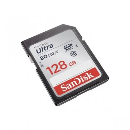 کارت حافظه SD 128GB سن دیسک مدل Ultra 80MB/s