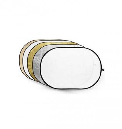 رفلکتور ترکیبی پنج کاره گودکس 100x150cm (دارای بخش نقرهای/طلایی)