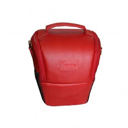 کیف دوربین عکاسی پوزه ای ترنگ سایز L قرمز (زرشکی)