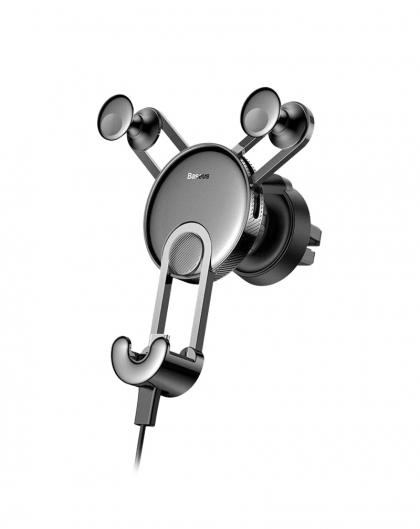 پایه نگهدارنده گوشی موبایل باسئوس مدل SULYY-01 + کابل شارژ آیفونی
