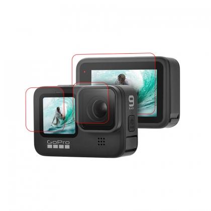 گلس محافظ صفحه نمایش و لنز دوربین گوپرو HERO9 (سه تکه)