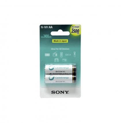 بسته دوتایی باتری قلمی قابل شارژ سونی