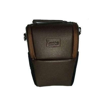 کیف دوربین عکاسی پوزه ای ترنگ سایز L قهوه ای
