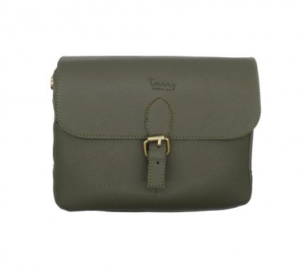 کیف چرمی دوربین عکاسی ترنگ رنگ سبز یشمی